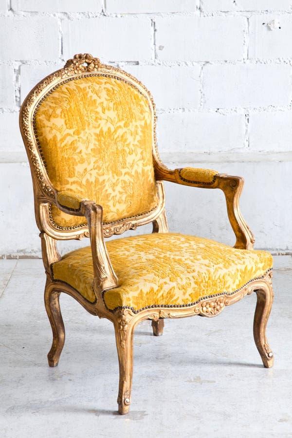 Luxury Yellow sofa stock photography