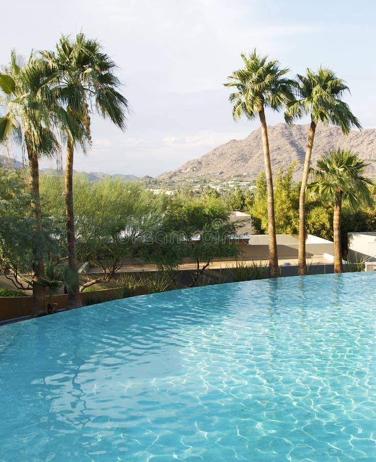 Luxury Zero Horizon Swimming Pool Royalty Free Stock Image
