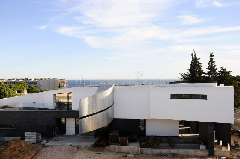 Luxus - Haus-Bau, Haupteingang stockbild