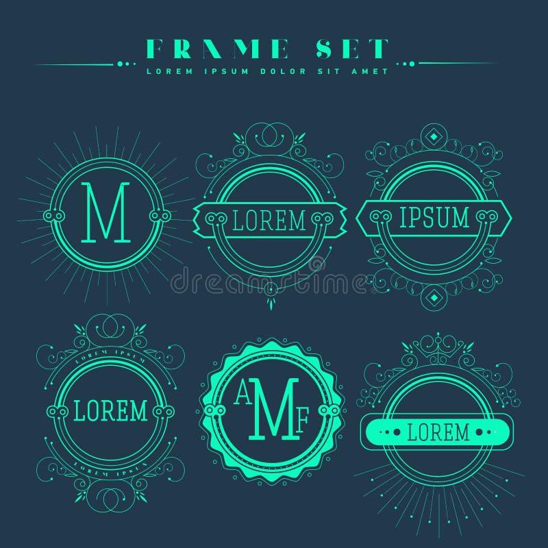 Luxus, Klassiker, Art Deco, linear, minimal vektor abbildung
