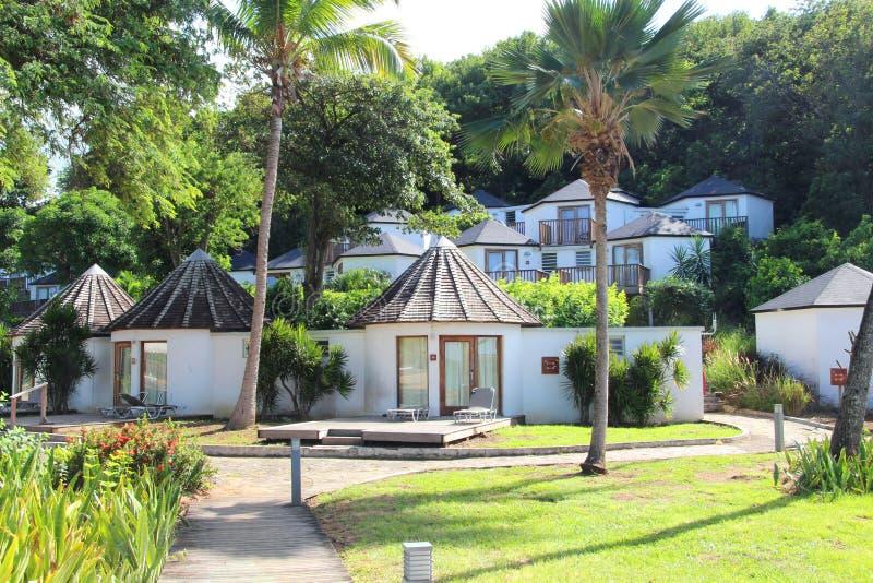 Luxus-Resort, Guadeloupe lizenzfreie stockbilder