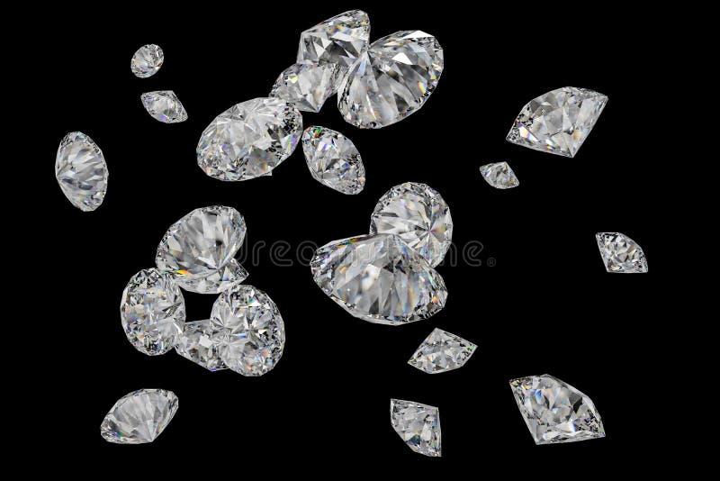 Luxusdiamantedelstein, Wiedergabe 3d stockfoto