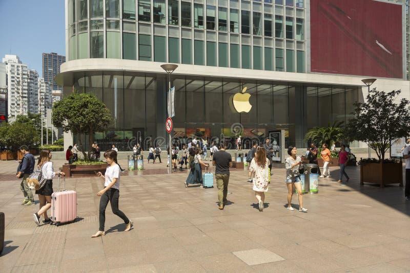 Luxuseinkaufsstraße in Shanghai lizenzfreies stockfoto