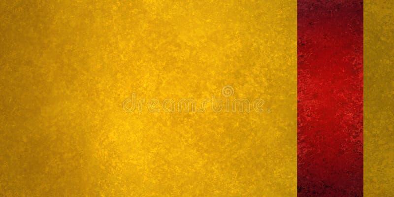 Luxusgoldhintergrund mit roter Sidebarplatte oder Bandstreifen auf Grenze lizenzfreies stockbild