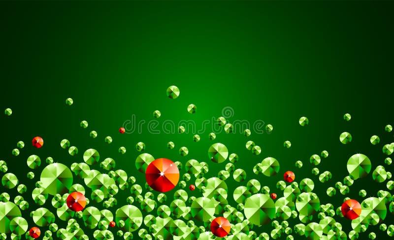 Luxushintergrund mit Smaragd lizenzfreie abbildung
