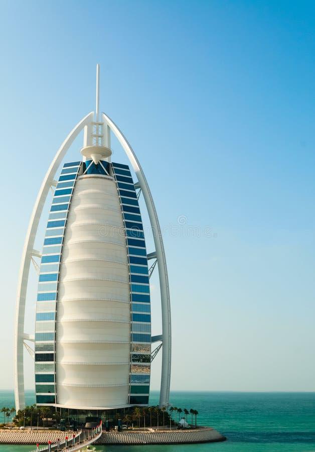 Luxushotel Burj Al Arab Tower der Araber stockfoto