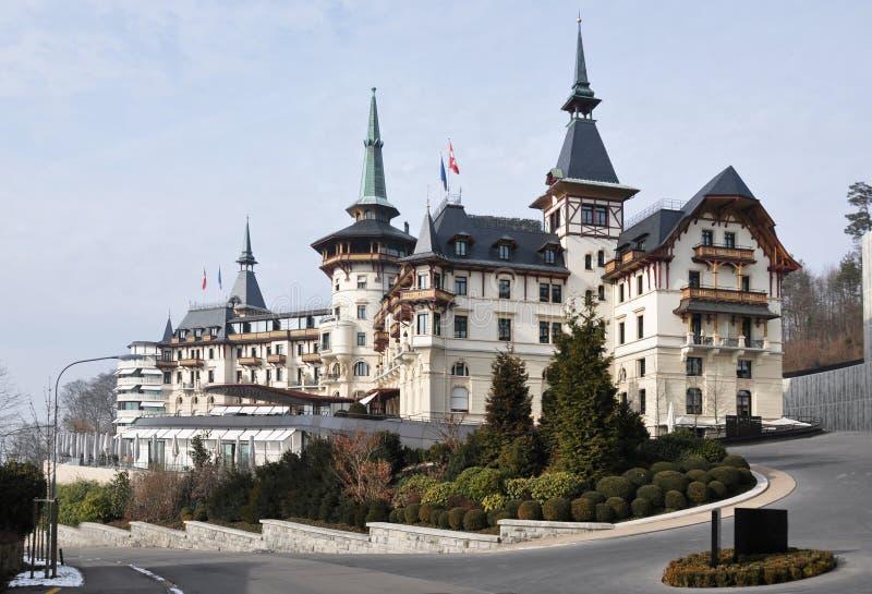 Luxushotel, die Schweiz lizenzfreie stockfotos