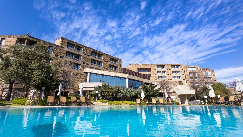Luxushotel in Lesotho lizenzfreies stockbild