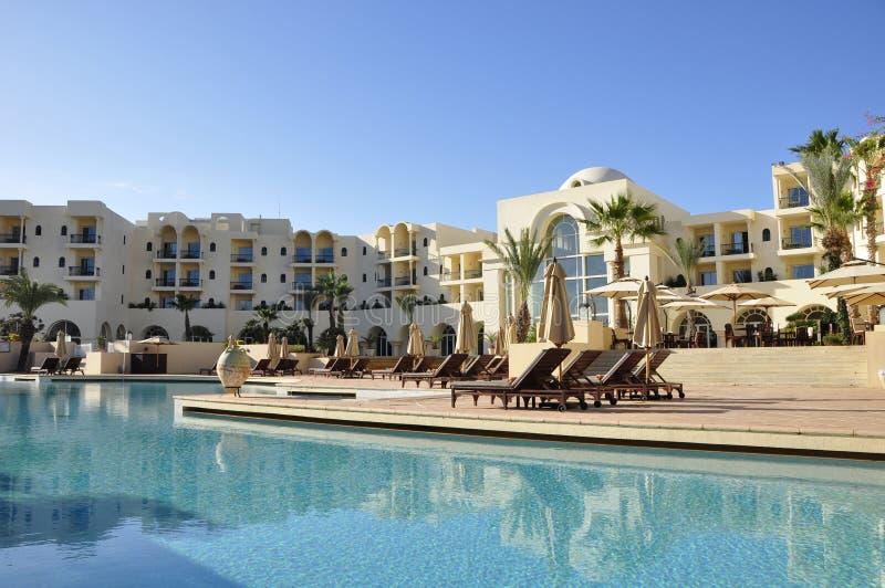 Luxushotelerie, Le Residence Tunis, 5-strenge Belangrijke Hotels van Th stock fotografie