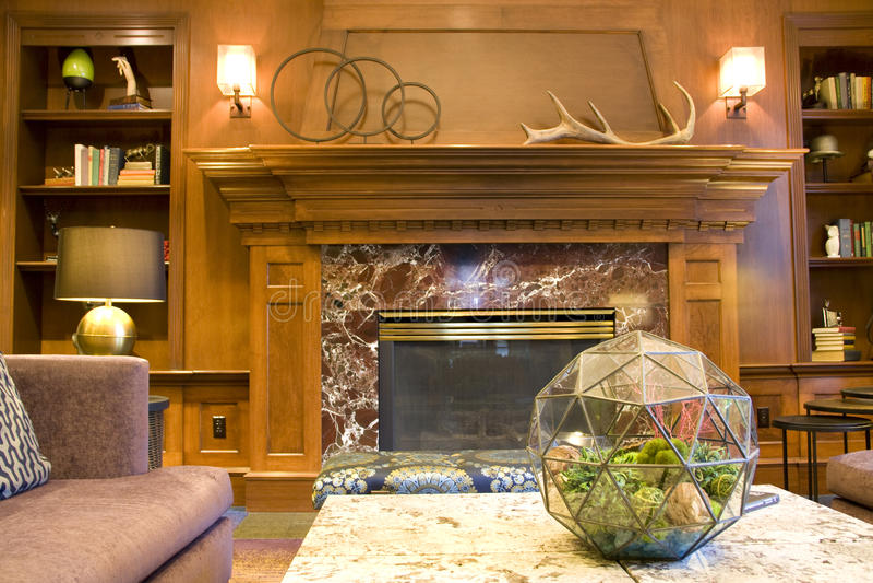 Luxushotellobby-Wohnzimmerinnenraum lizenzfreie stockbilder