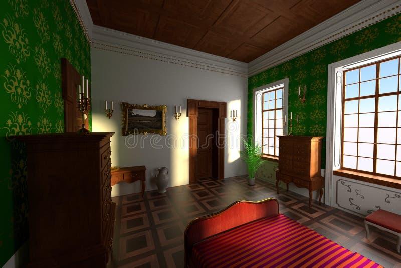 Luxuslandsitzinnenraum - Schlafzimmer vektor abbildung