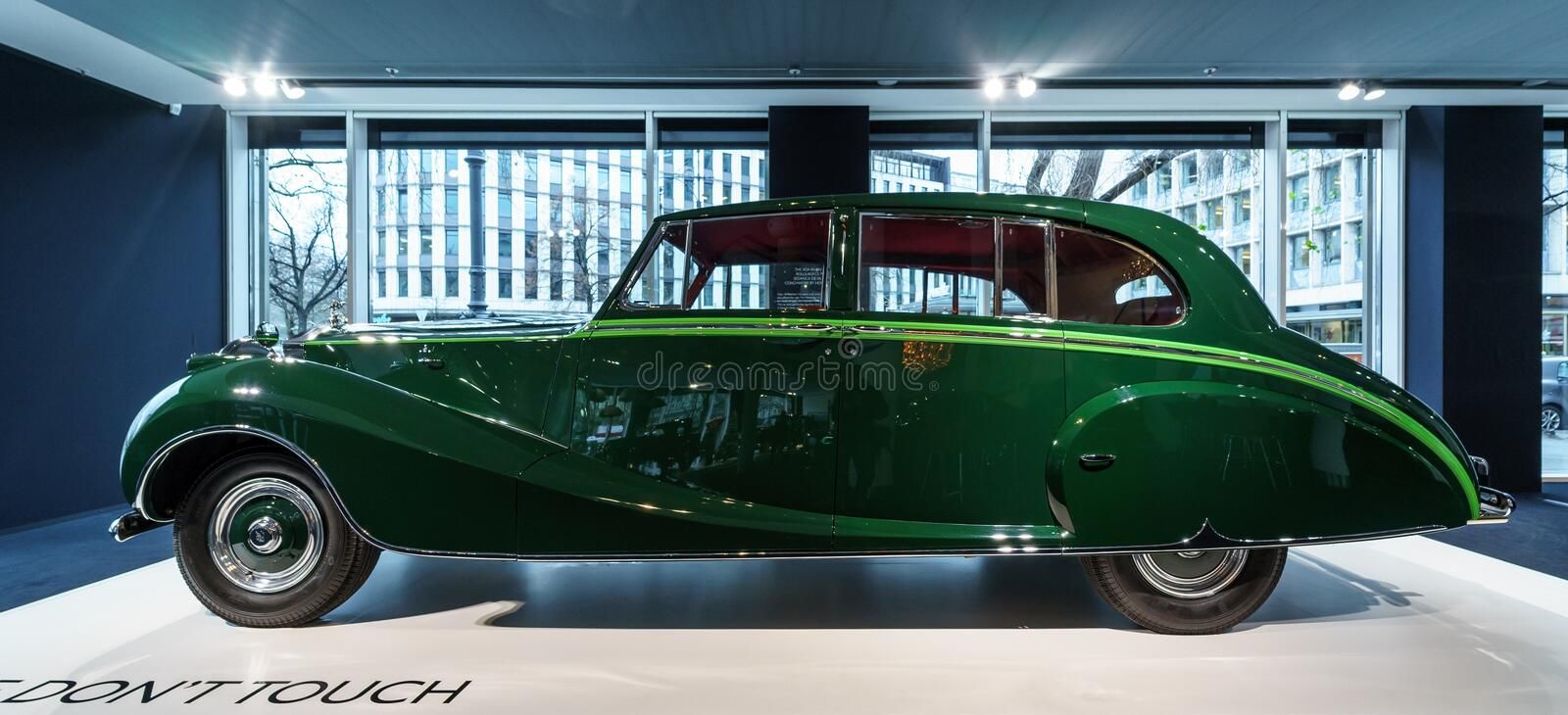 Luxuslimousine auto Rolls-Royce Phantoms IV Sedanca de Ville, 1952 Coachwork durch Böttcher von London stockfoto