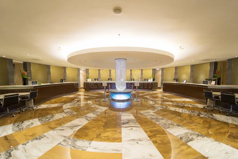 Luxuslobby des Hotels mit fünf Sternen stockfotos