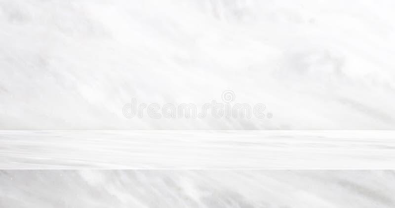 Luxusmarmorstudiohintergrund der tabelle 3D gemasert für Produktanzeige mit Kopienraum für Anzeige des zufriedenen Entwurfs Fahne vektor abbildung