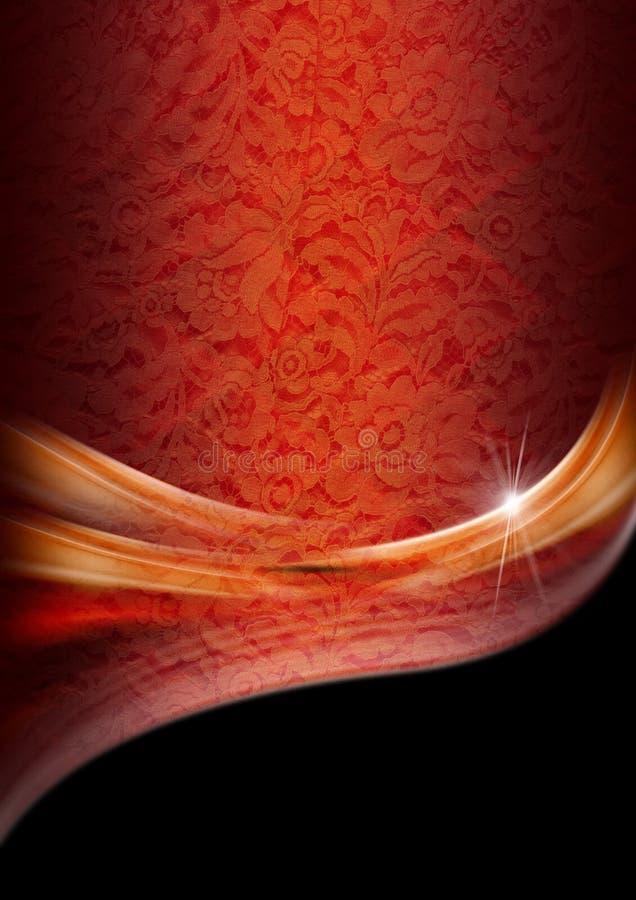 Luxusorange und roter mit Blumenhintergrund vektor abbildung