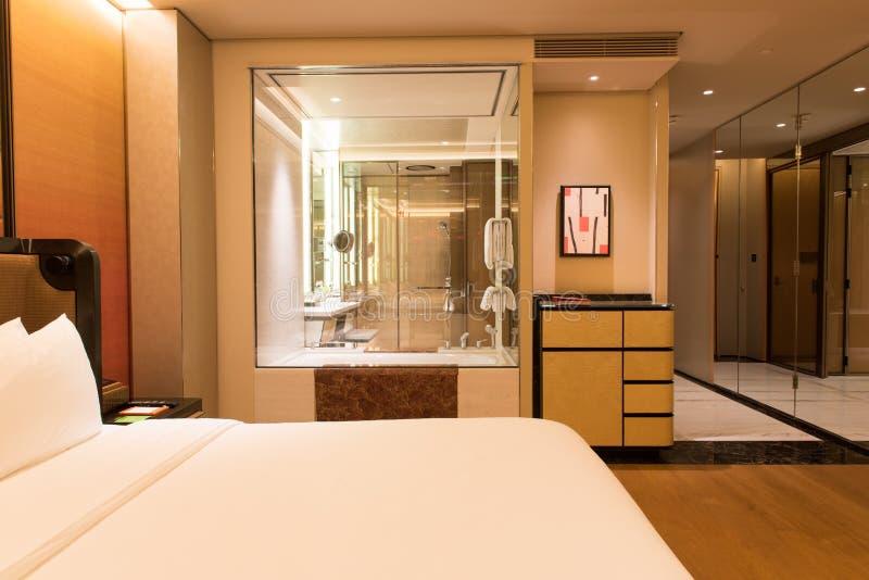 Luxusschlafzimmer-Reihe lizenzfreies stockbild