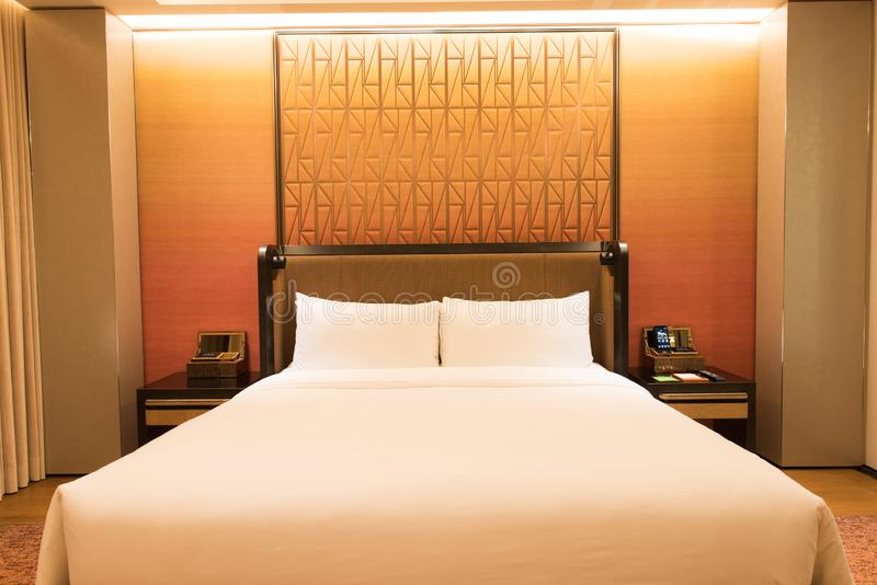 Luxusschlafzimmer-Reihe stockfoto