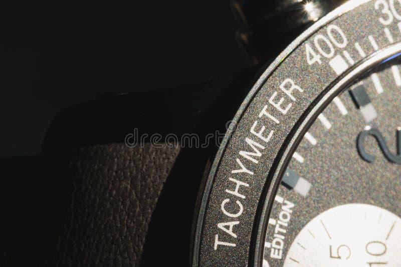 Luxusuhr der begrenzten Ausgabe des tachymeter stockbild