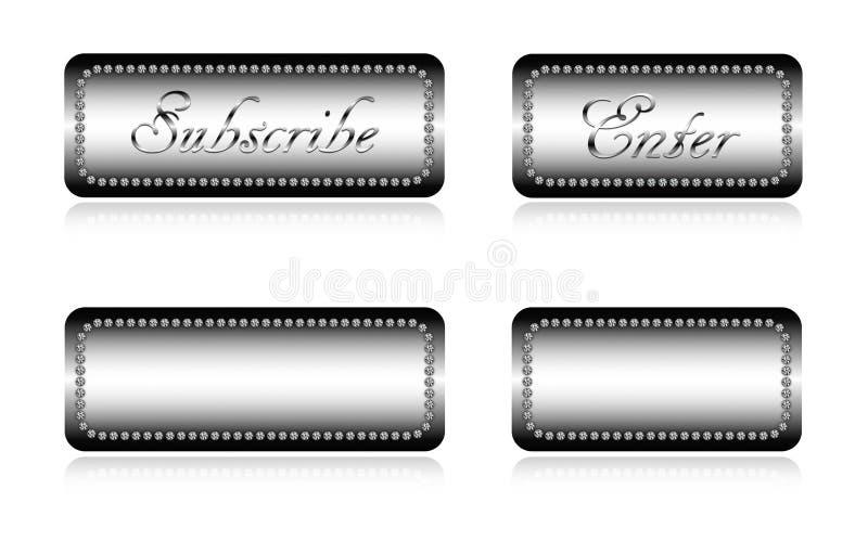 Luxuswebsiteknöpfe stockbilder