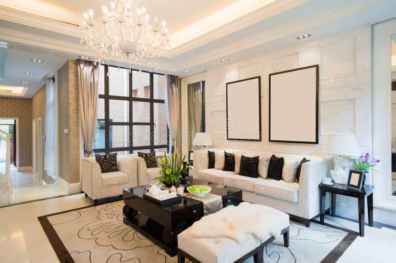 Luxuswohnzimmer stockfotos