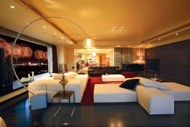 Luxuswohnzimmer lizenzfreie stockfotografie