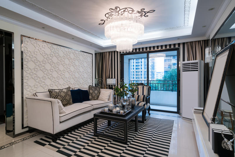 Luxuswohnzimmer stockfotografie