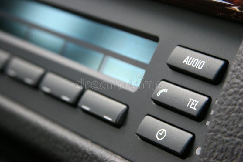 Luxuxauto-Audiosystem lizenzfreie stockfotografie