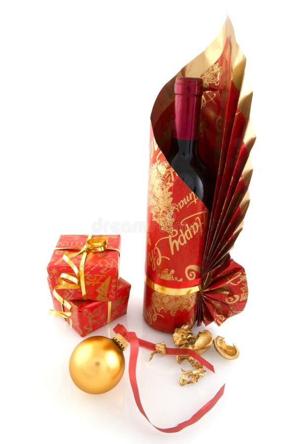 Luxuxflaschenwein stockfotografie