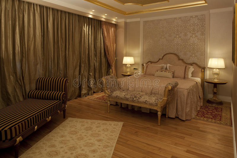 Luxuxschlafzimmer lizenzfreie stockfotos