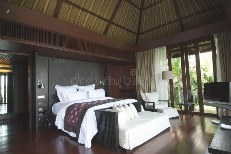 Luxuxschlafzimmer Innenraum lizenzfreies stockbild