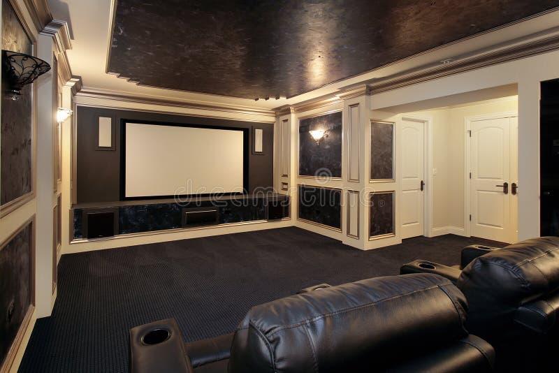 Luxuxtheaterraum stockbilder