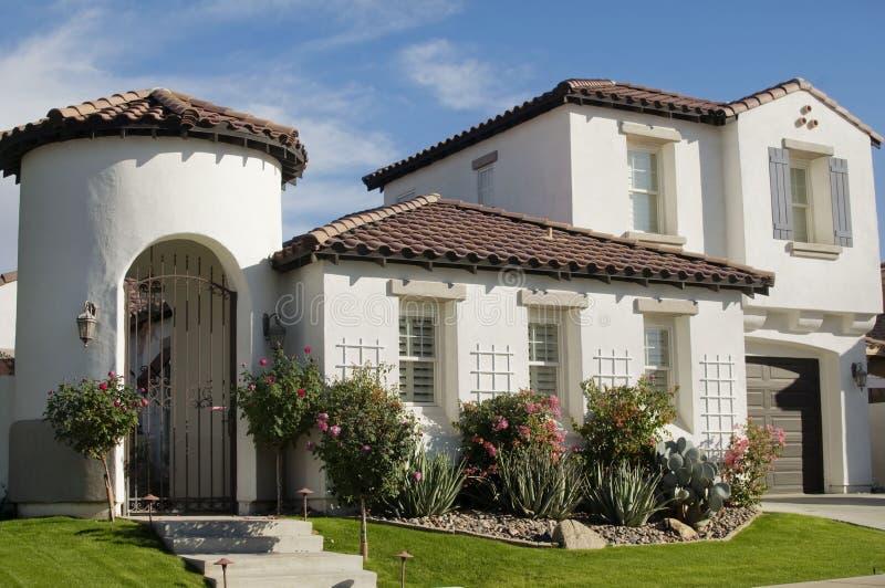 Luxuxwüsten-Haus in Arizona lizenzfreies stockbild