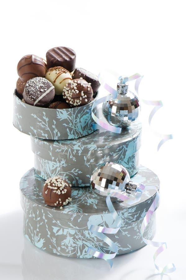 Luxuxweihnachtsschokoladen lizenzfreie stockfotografie