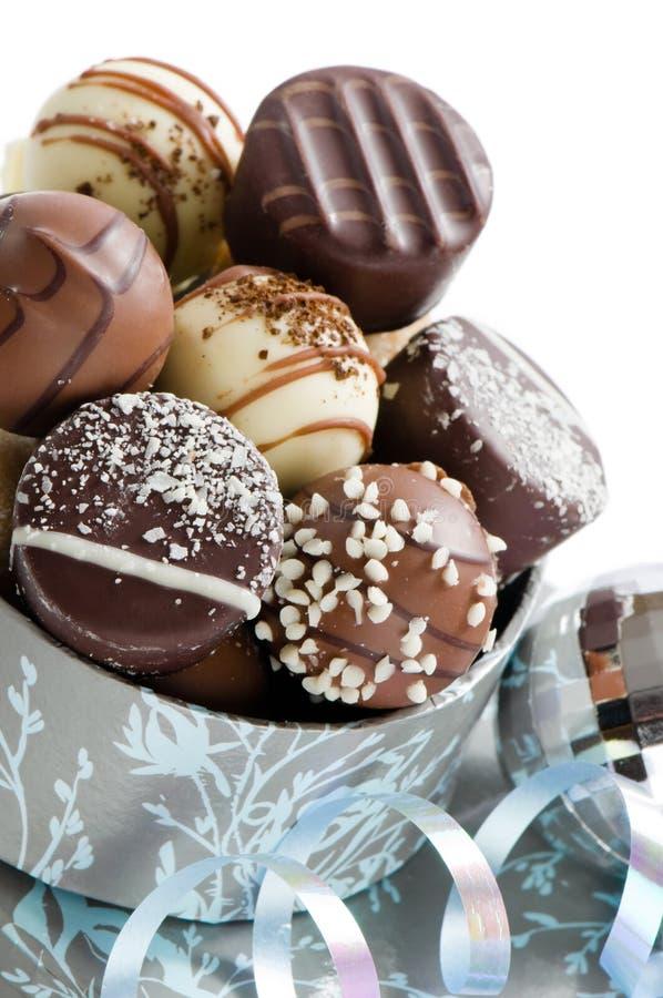 Luxuxweihnachtsschokoladen lizenzfreie stockbilder