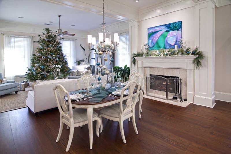 Luxuxwohnung am Weihnachten stockfoto