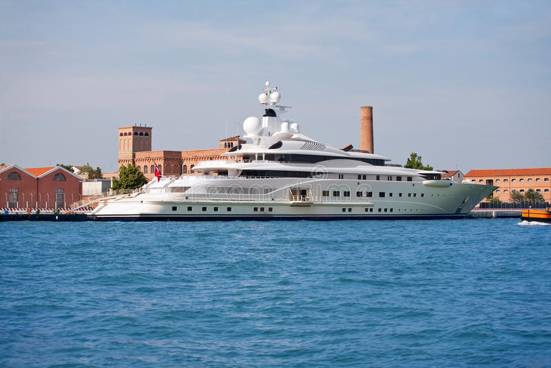 Luxuxyacht stockbilder