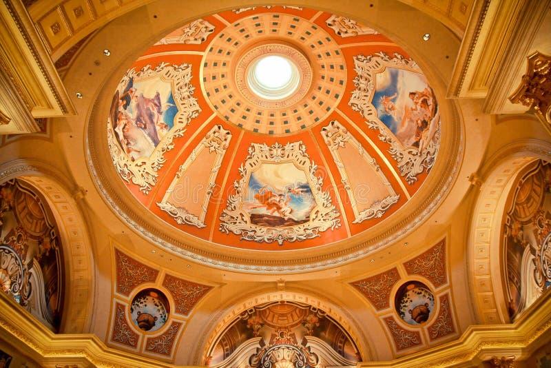 Luxyry golden celling in Macau stock photos