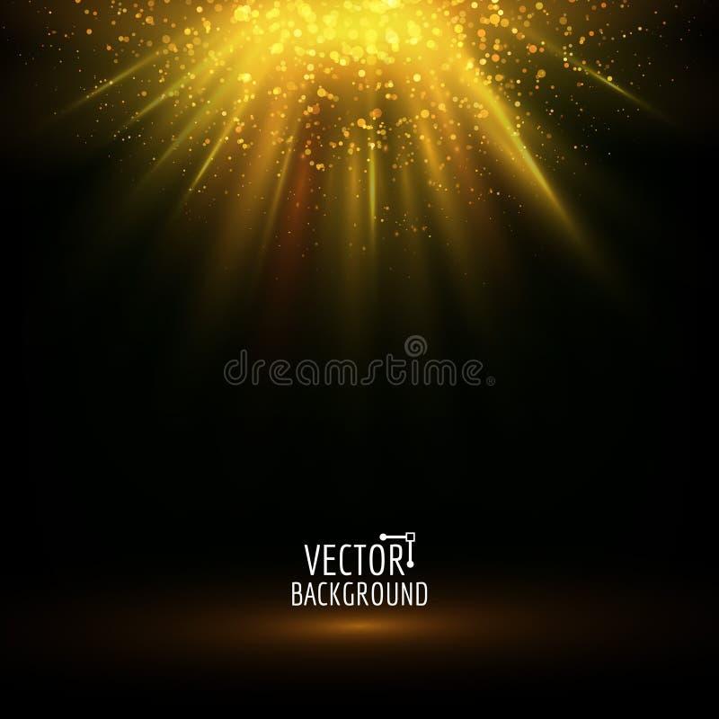 Luz abstracta del vector El brillar intensamente brillante stock de ilustración