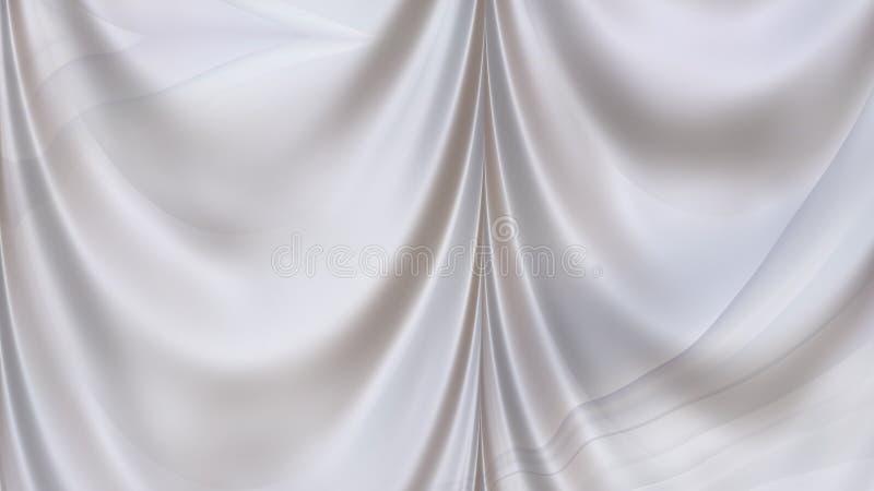 Luz abstracta Grey Drapery Texture Background ilustración del vector