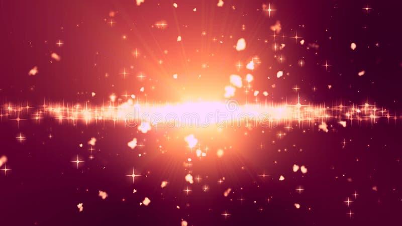 Luz abstrata das estrelas ilustração do vetor