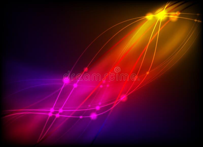 Luz abstrata de incandescência ilustração stock