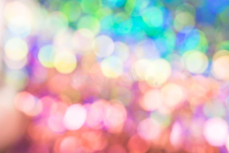 Luz abstrata do bokeh da cor do vestido da lantejoula do borrão imagem de stock