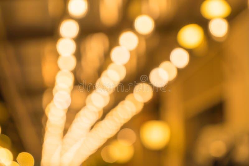 Luz abstrata do bokeh do borrão imagem de stock