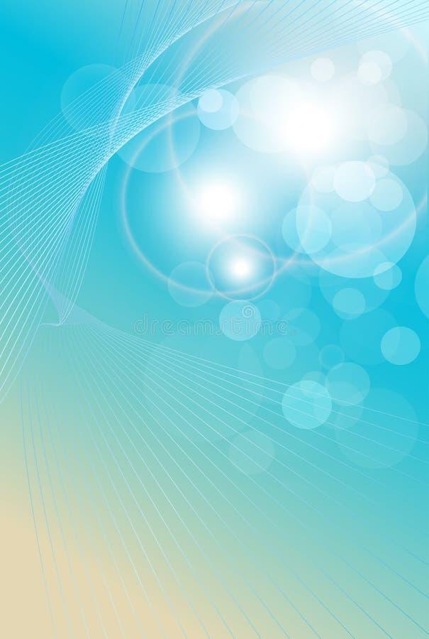 Luz abstrata do fundo - azul ilustração do vetor