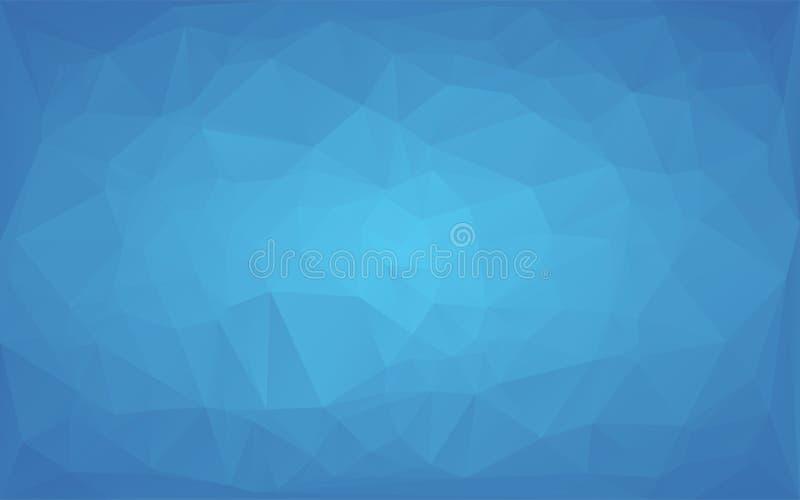 Luz abstrata do vetor do mosaico do polígono - fundo redondo azul ilustração stock
