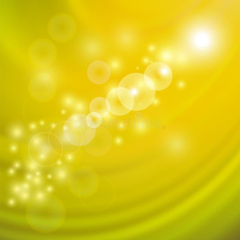 Luz abstrata - fundo amarelo da onda ilustração royalty free