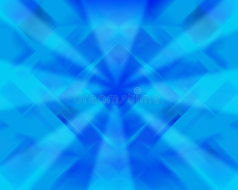 Luz abstrata - fundo azul ilustração stock