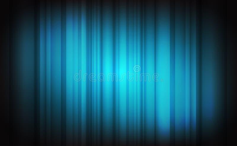 Luz abstrata - fundo azul ilustração do vetor