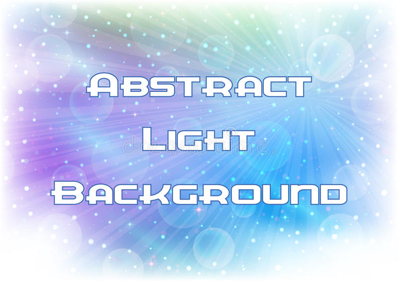 Luz abstrata - fundo azul ilustração royalty free