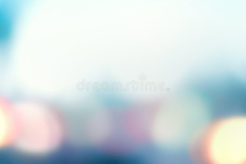 Luz abstrata - fundo azul com bokeh macio fotografia de stock